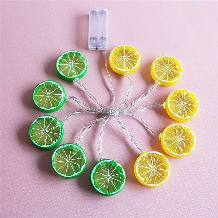Festive Furnishing Lemon Shape LED String Lights