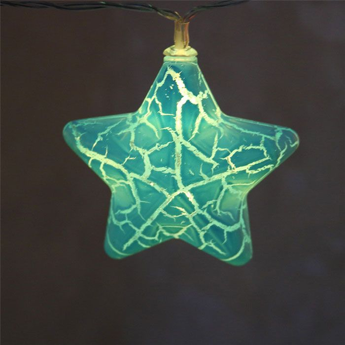 Colorful Crack Stars Shape LED String Lights