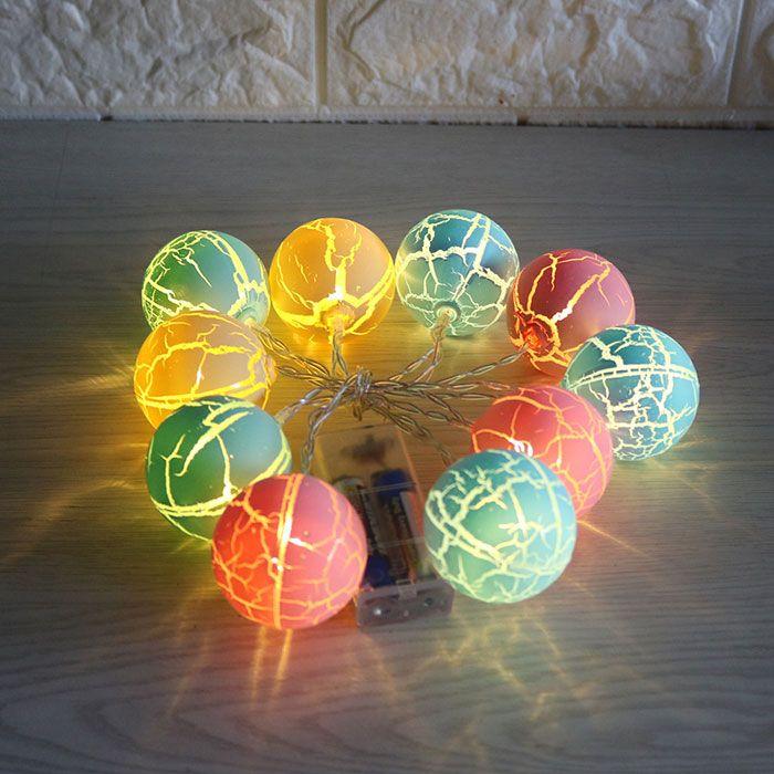 Holiday Decoration Crack Ball Shape LED String Lights