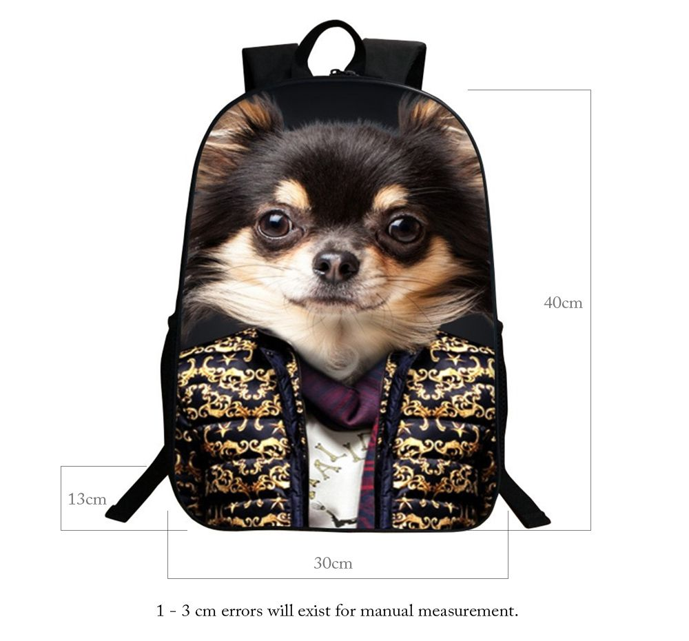3D Animal Pattern Polyester Backpack