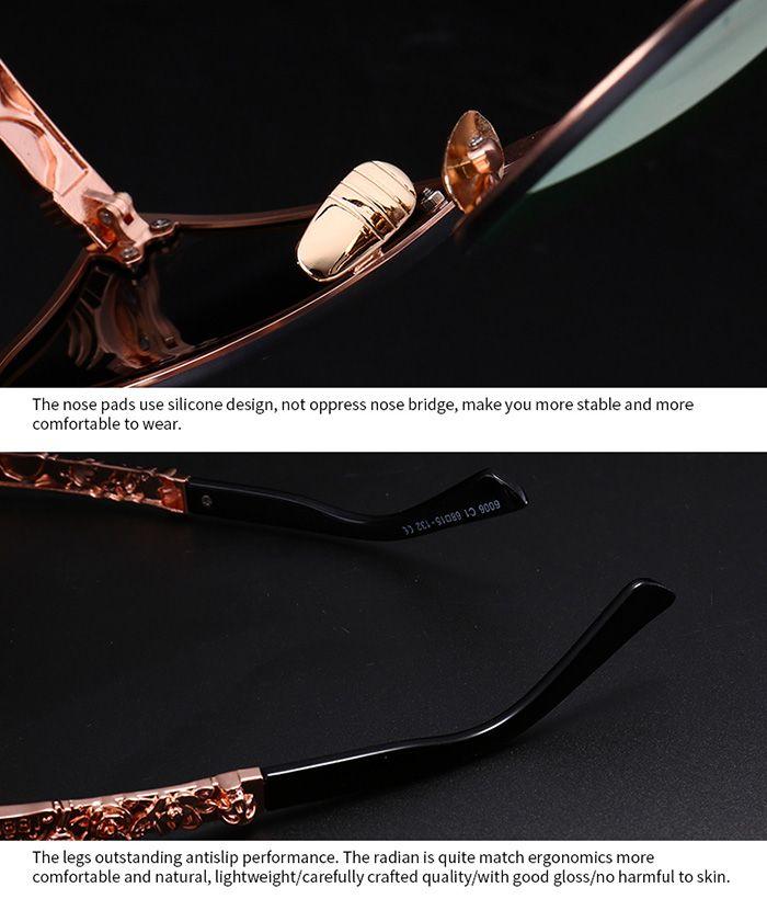 Skull Insert Butterfly Lens Mirror Sunglasses