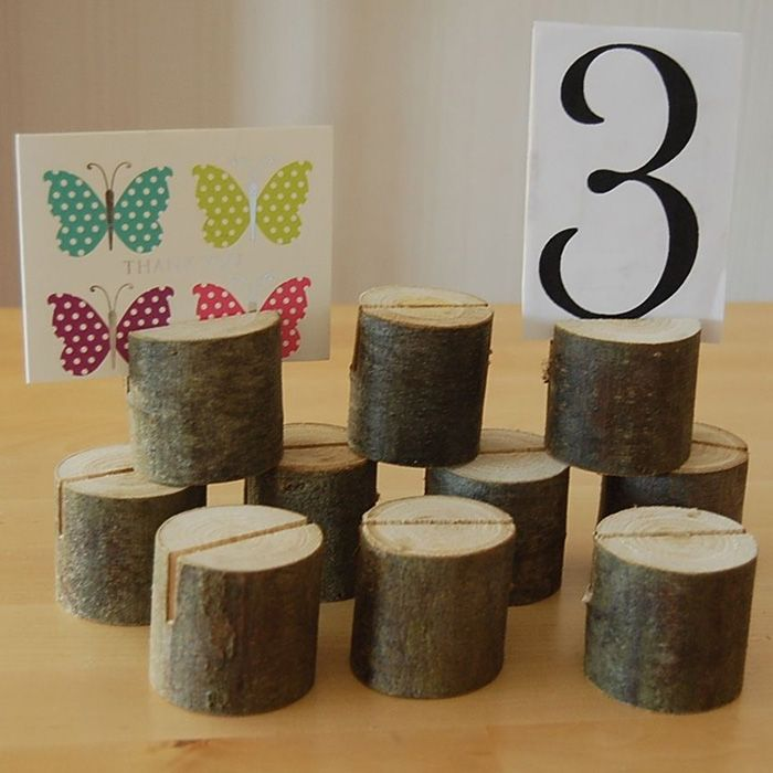 10 Pcs Wooden Table Number Stands