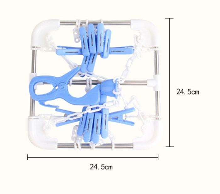 Socks Clothes Household Hanging Dryer with 16 Clips