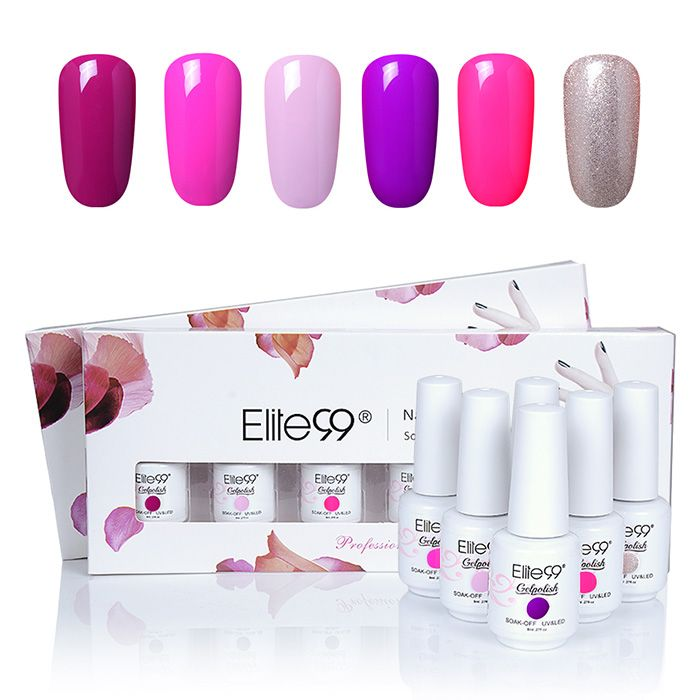 Elite99 6 Colors Kit UV Gel Nail Polish Suit