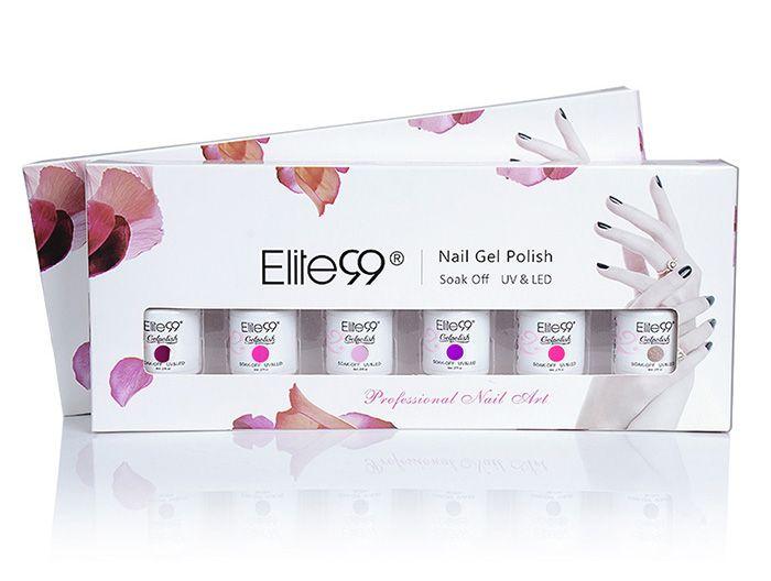 Elite99 6 Colors Kit UV Gel Nail Polish Suit