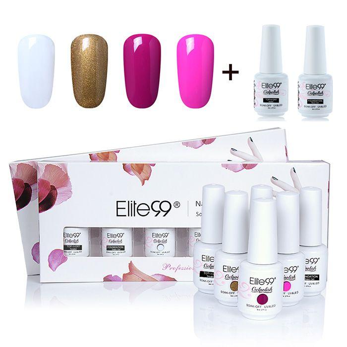 Elite99 6PCS Lacquer UV LED Soak Off Gel Nail Polish Set