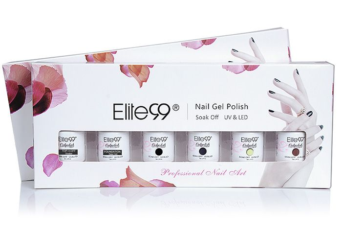 4 Deep Colors UV LED Soak Off Elite99 Gel Nail Polish Set