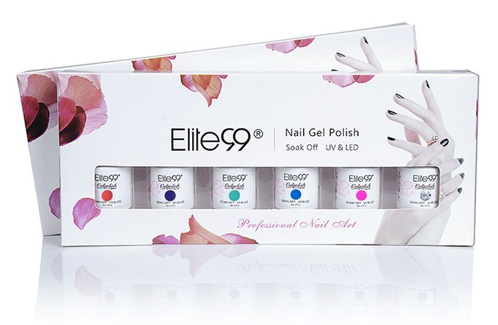 Soak Off Elite99 Gel Nail Polish Kit with One Bottle Sequins