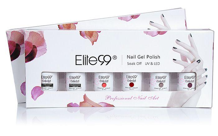 Elite99 6PCS Waterproof Polish UV LED Soak Off Gel Nail Set