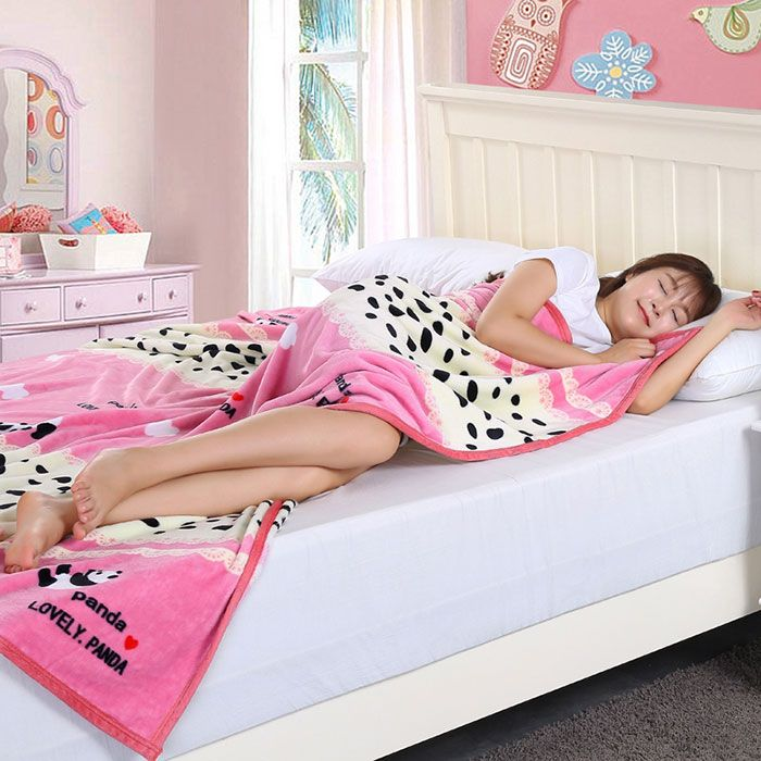 Panda Pattern Bedroom Soft Throw Blanket