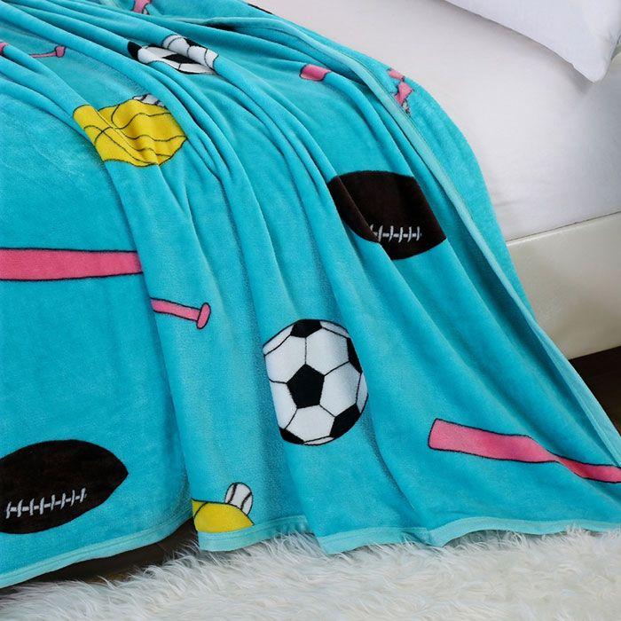 Football Print Sport Soft Throw Blanket
