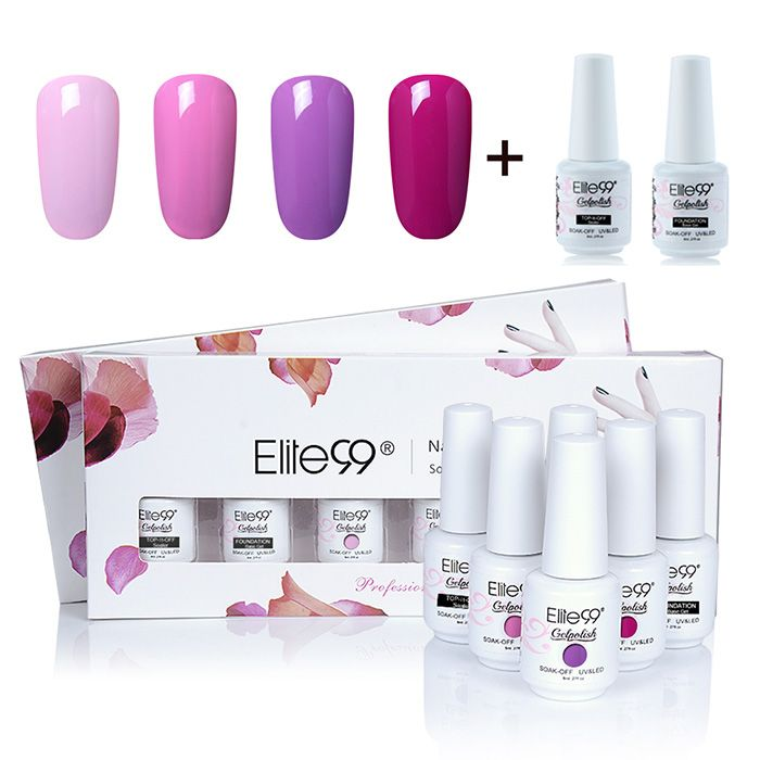Soak-off UV LED Gel Polish Elite99 8ml Nail Art Box Set