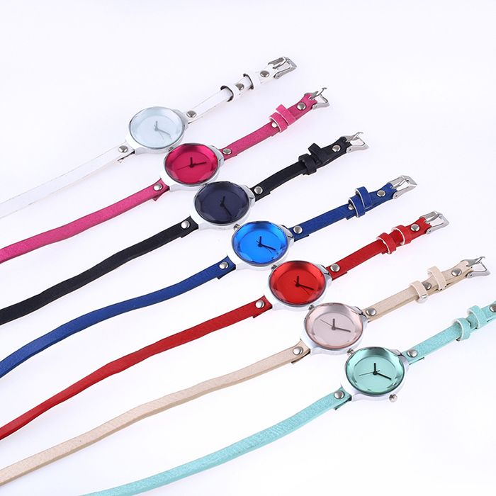 Faux Leather Layered Wrap Bracelet Watch