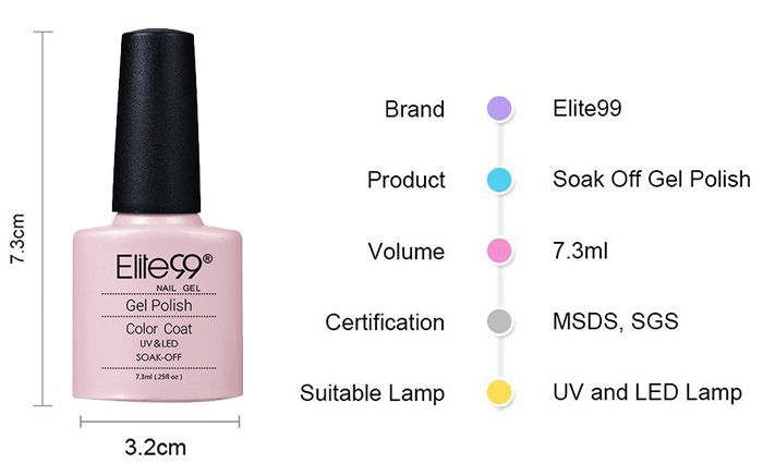 Pink Series Shellac Elite99 Gel Nail Polish Kit