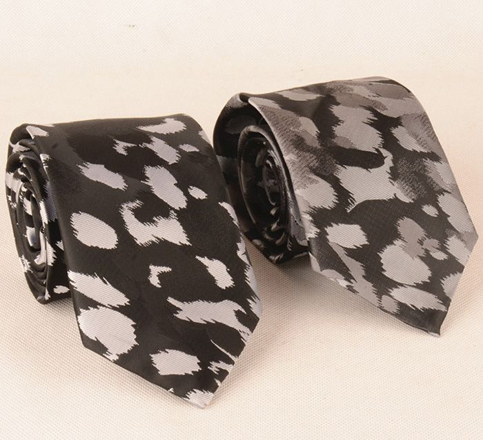 Animal Fur Print 8CM Width Tie