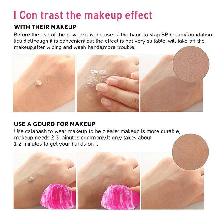 4 Pieces Double Colors Makeup Sponge Powder Puffs