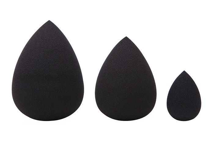 3 Pieces Cosmetics Beauty Sponge Powder Puffs Waterdrop Incision