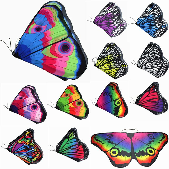 Butterfly Wings Shape Colorful Scarf