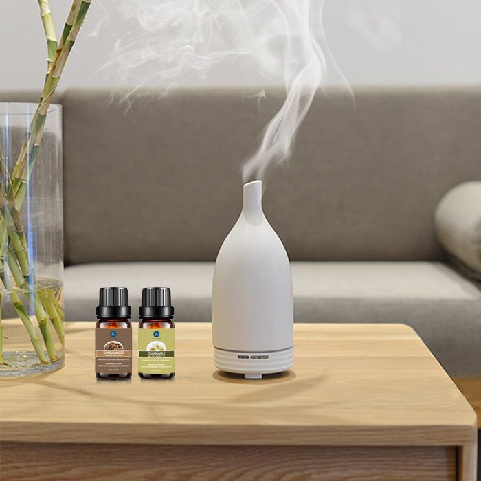 Top 2 Pcs Chamomile and Sandalwood Essential Oil Set