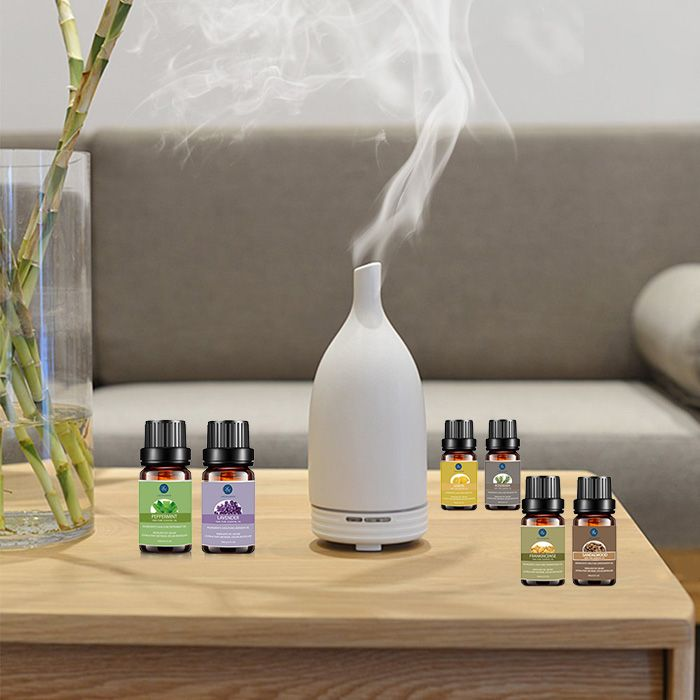 6 Pieces Peppermint Lavender Lemon Rosemary Frankincense Sandalwood Essential Oil Set
