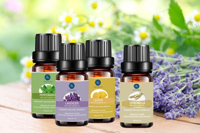 4Pieces Citronella Lavender Lemon Peppermint Seasonal Blend Essential Oil