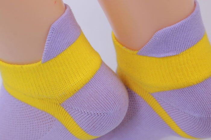 Five Fingers Toe Cotton Blend Ankle Socks