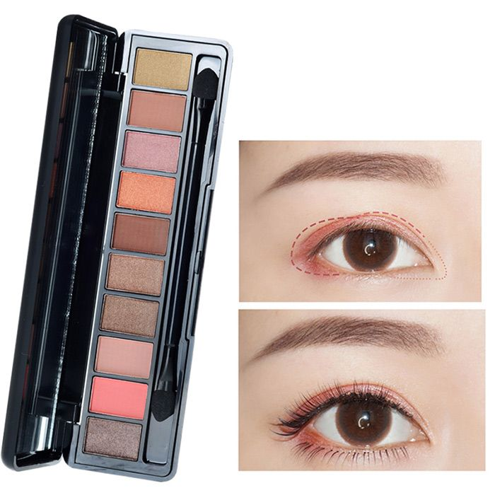 10 Colors Eyeshadow Kit With Brush