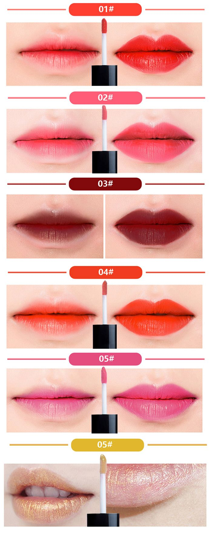 Long Lasting Moisture Not Stick Lip Glaze
