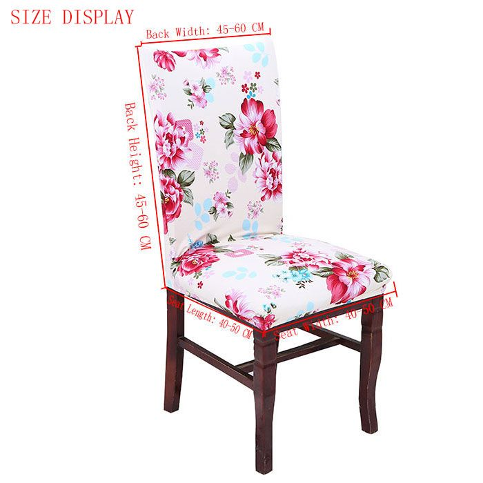 European Floral Pattern Stretch Elastic Removable Chair Cover