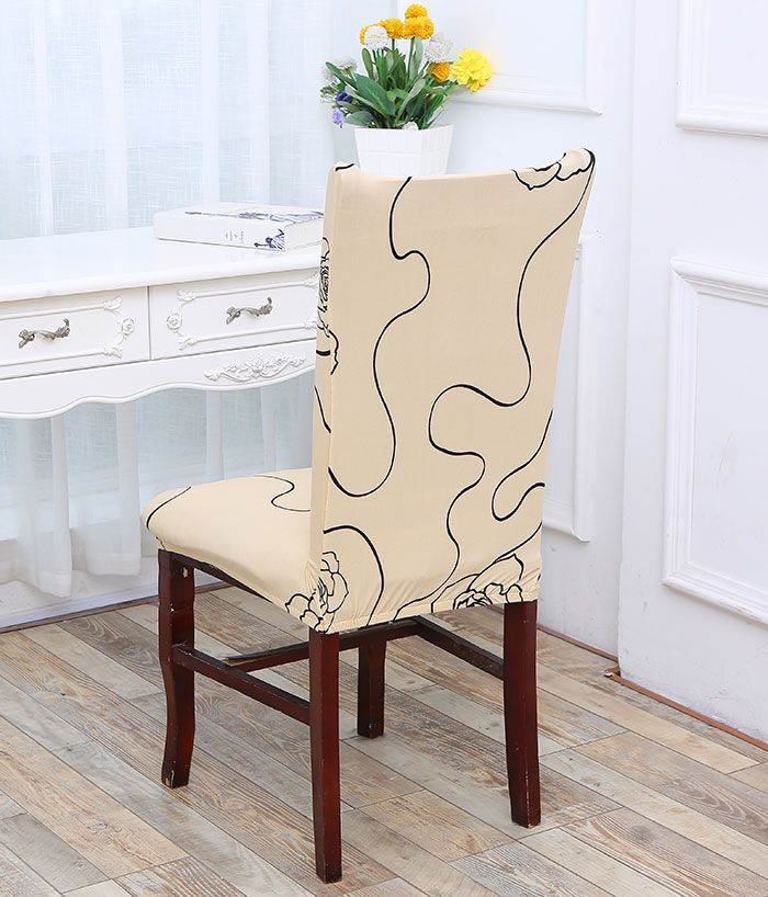 Rose Pattern Stretch Elastic Removable Chair Cover