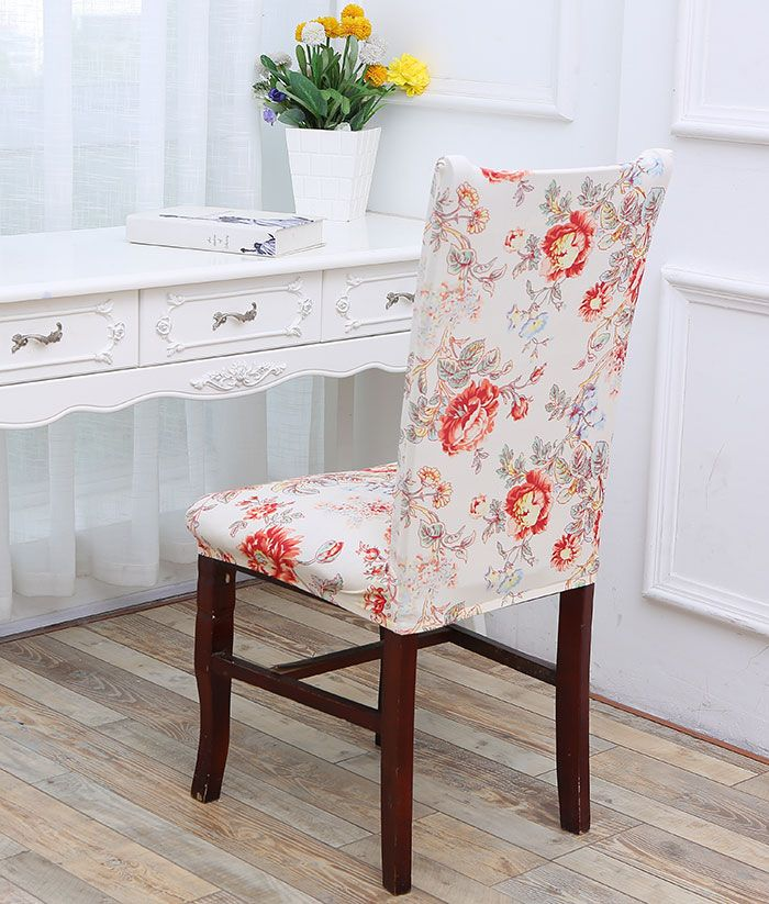 Floral Pattern Elastic Removable Chair Cover