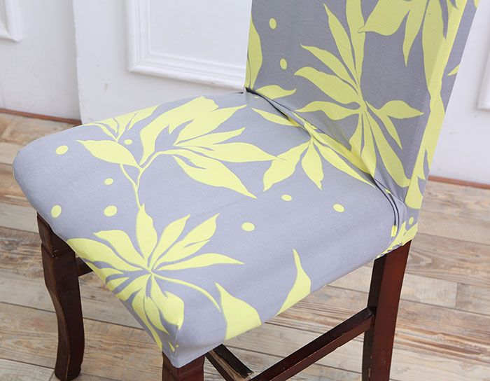 Leaves Pattern Stretch Elastic Chair Cover