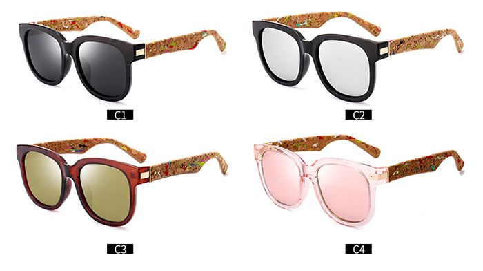 Full Frame Design Marble Grain Legs Mirror Sunglasses