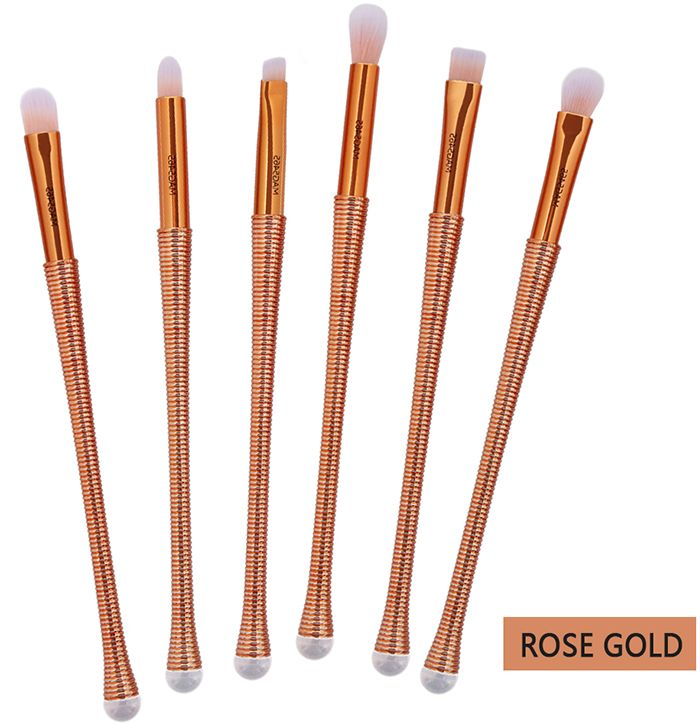 6 Pieces Slim Handle Eyes Brush Set