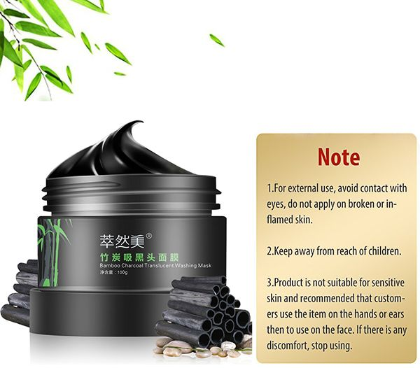 Bamboo Charcoal Removal Blackheads Translucent Washing Mask