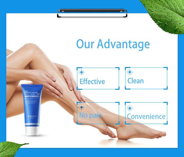 Natural Hair Removal KOOGIS Depilatory Cream