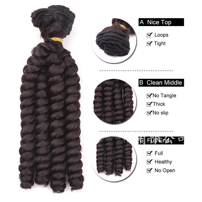 3Pcs Short Spring Curly Twist Braids Synthetic Hair Weaves