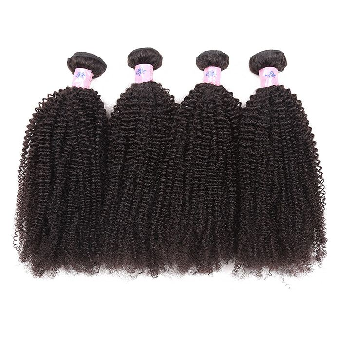 1Pc Fluffy Afro Kinky Curly Peruvian Human Hair Weave