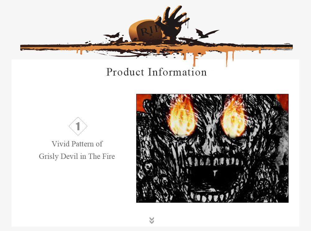 Kangaroo Pocket Devil Print Halloween Hoodie