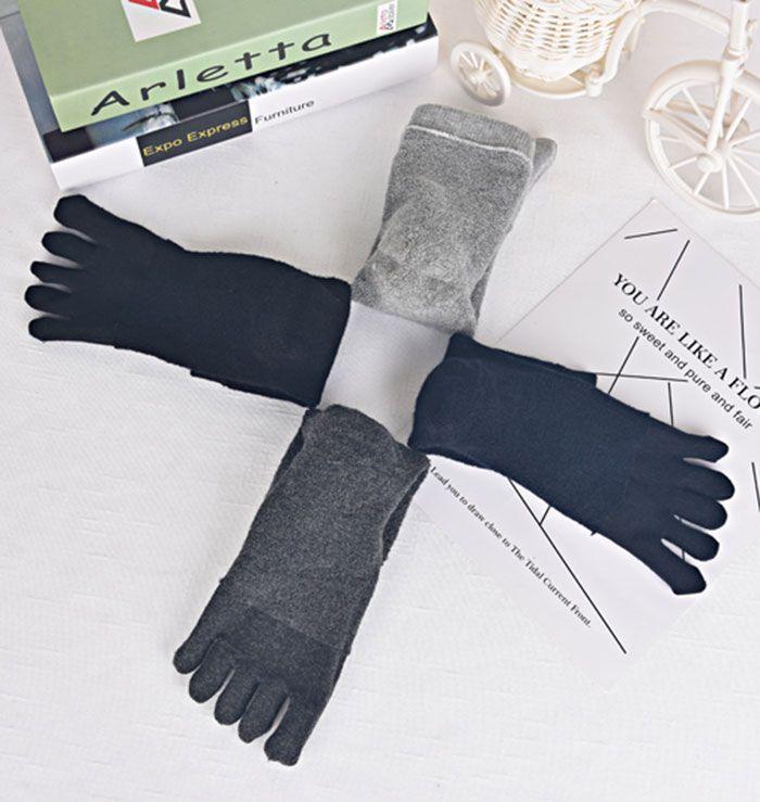Five Finger Toe Cotton Blend Socks