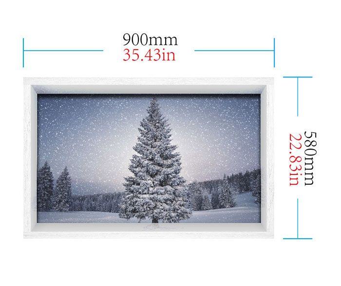 3D Christmas Tree Print Stick-on Multifunction Wall Art Painting