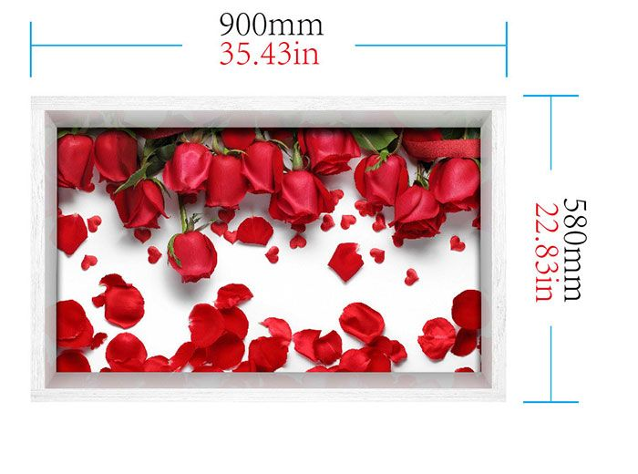 3D Rose Print Multifunction Stick-on Wall Art Painting