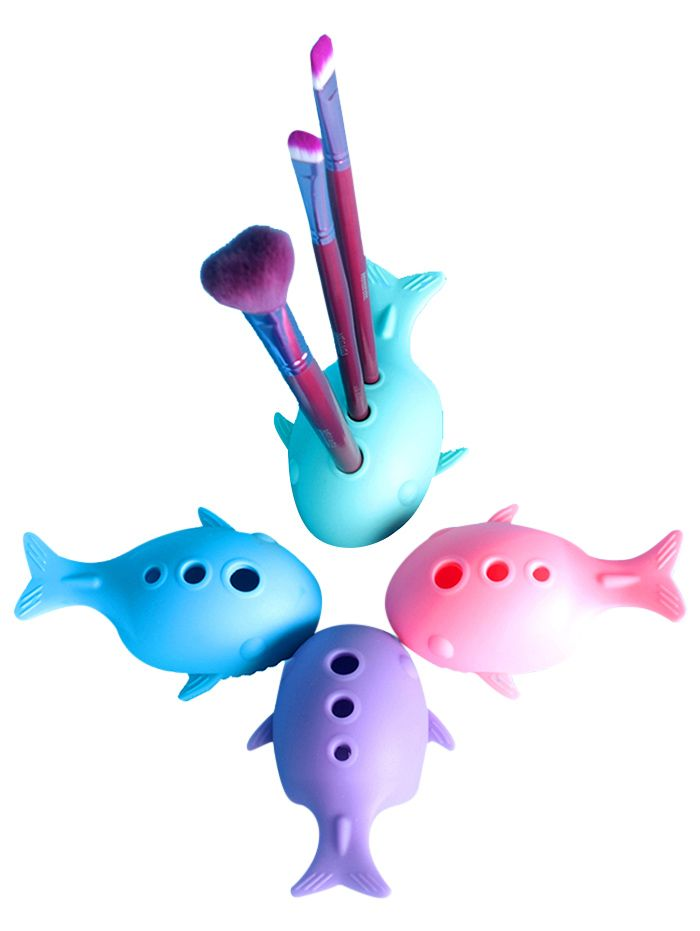 Whale Shape Silicone Cleaning Tool Brush Egg