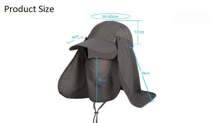 Outdoor Sport Hiking Fisherman Quick Dry UV Protection Hat