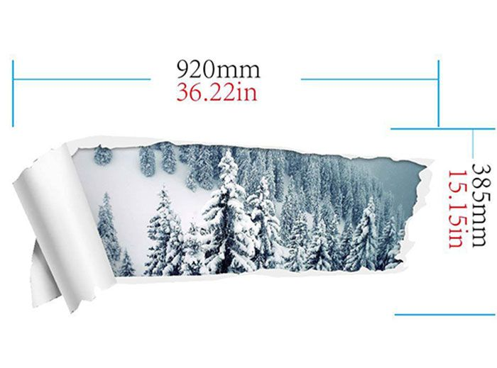 3D Snow Forest Removable Wall Sticker