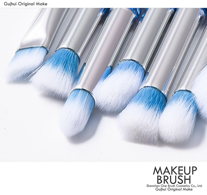 10 Pieces Waterdrop Pattern Makeup Brush Set