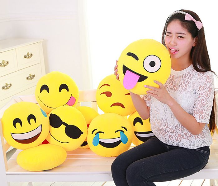 Cartoon Emoticon Smile Face Pattern Pillow Case