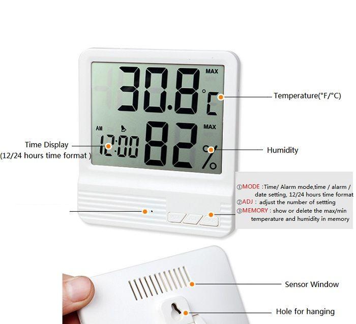Termómetro-Higrómetro de interior