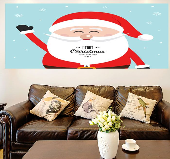 Happy Santa Claus Pattern Multifunction Wall Art Painting