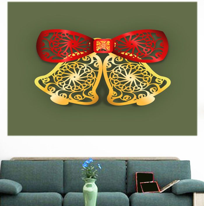 Christmas Bells Cut Printed Multifunction Wall Art Painting